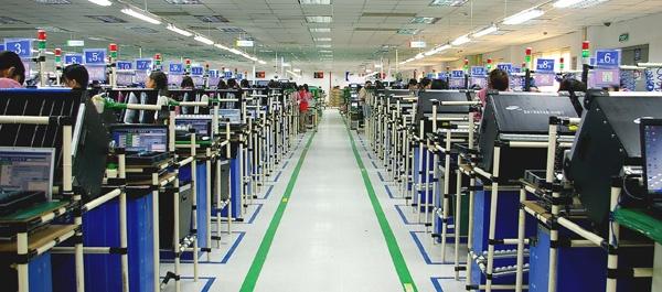 Фабрика Samsung по производству ноутбуков в Сучжоу