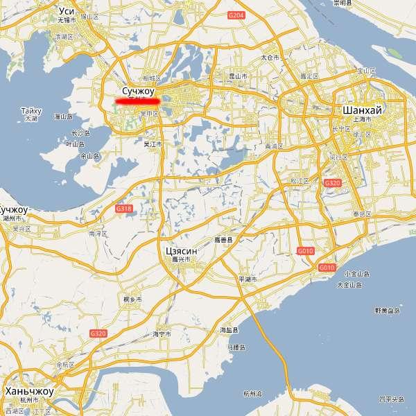 Карта Сучжоу
