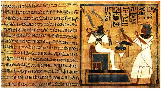 Папирус – страница из египетской «Книги мертвых»