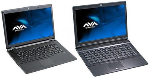 ноутбуки AVADirect Clevo B5100M и Clevo B7100M